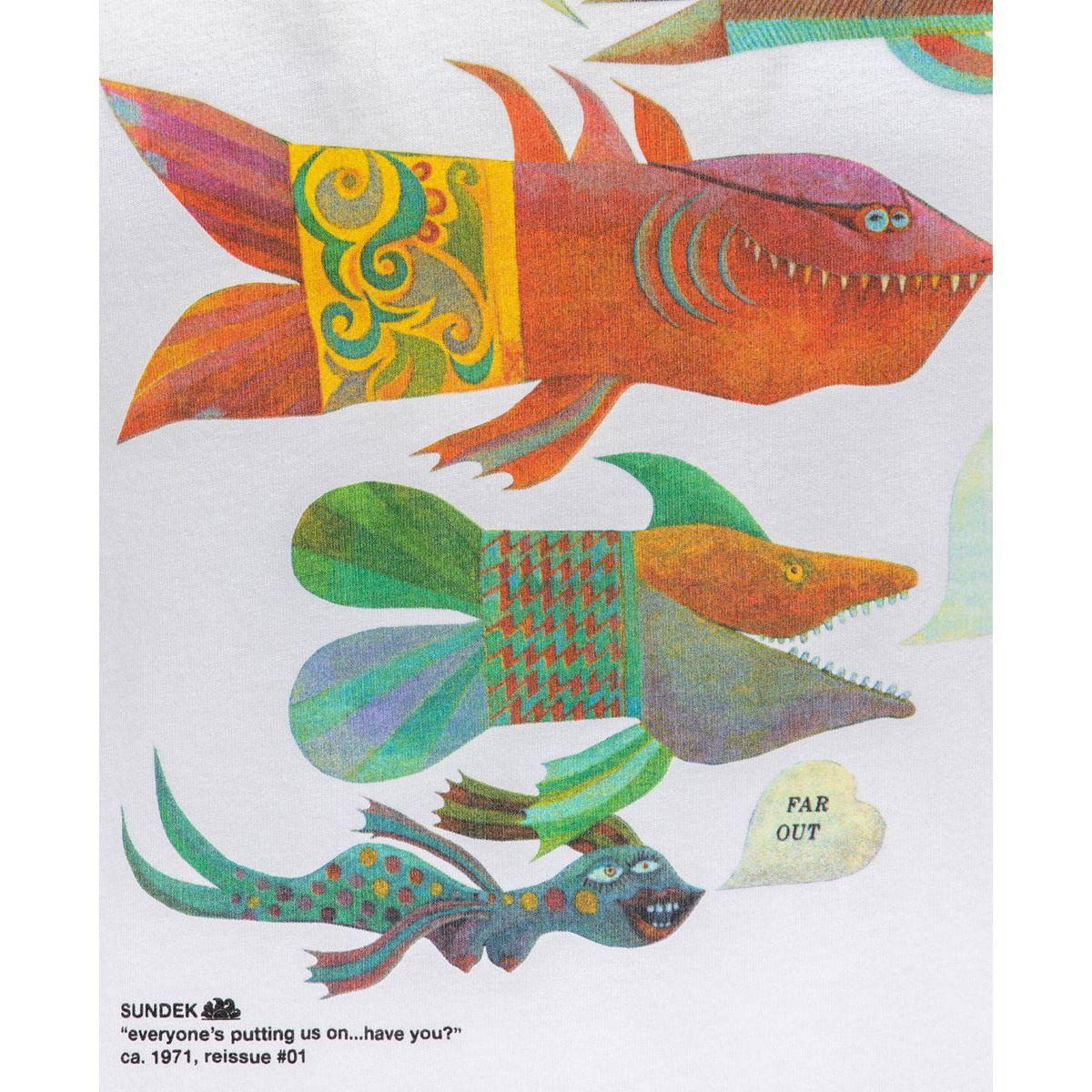 Fish t-shirt White Sundek