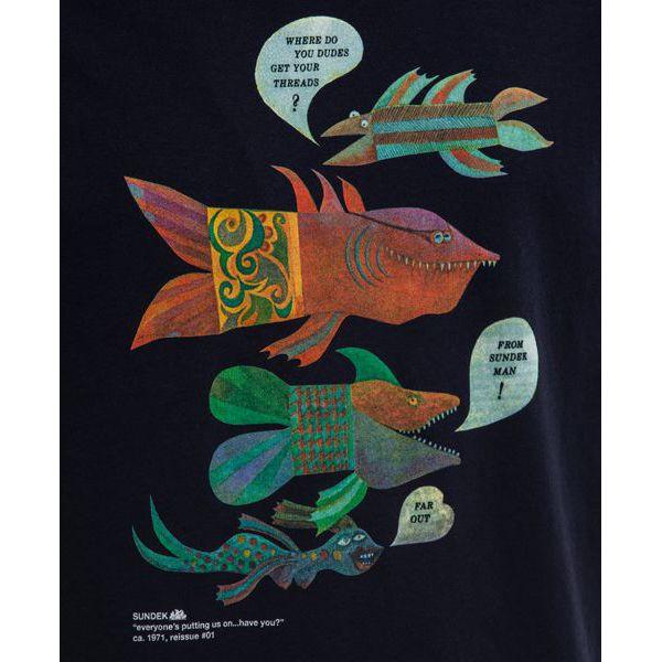 2. Fish t-shirt Blue Sundek