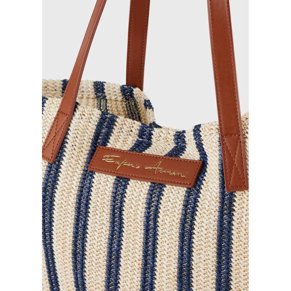 Braided bag Ivory-blue Emporio Armani