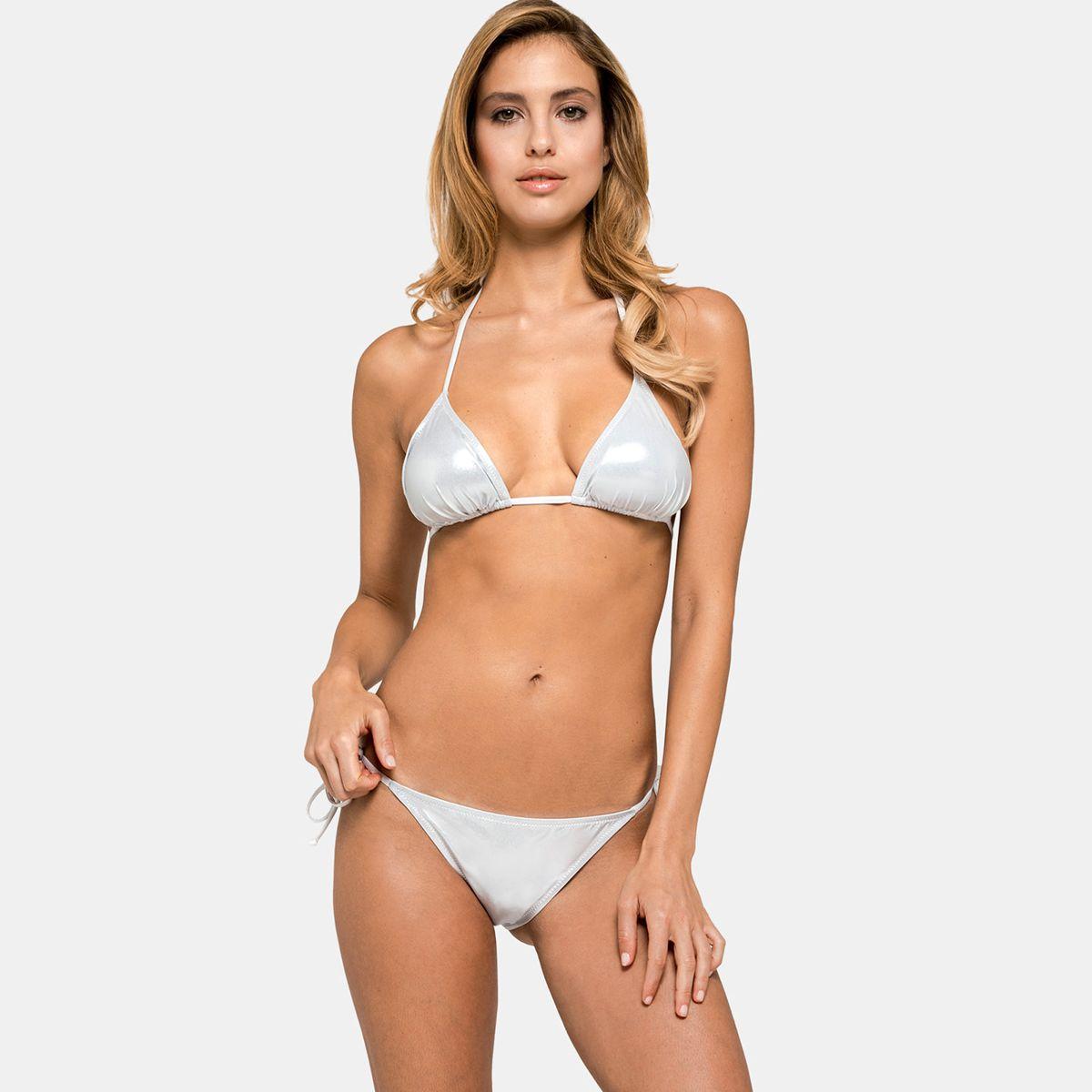 Metallic bikini Silver Sundek