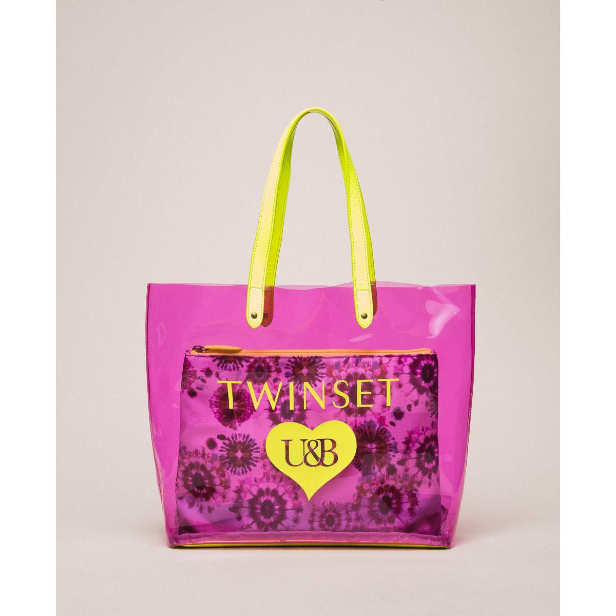 Shopping + pochette Multicolor rose Twin Set
