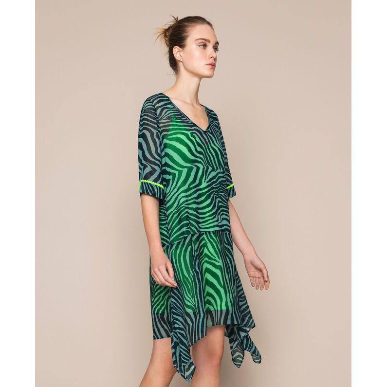 Animaler print Green Twin Set