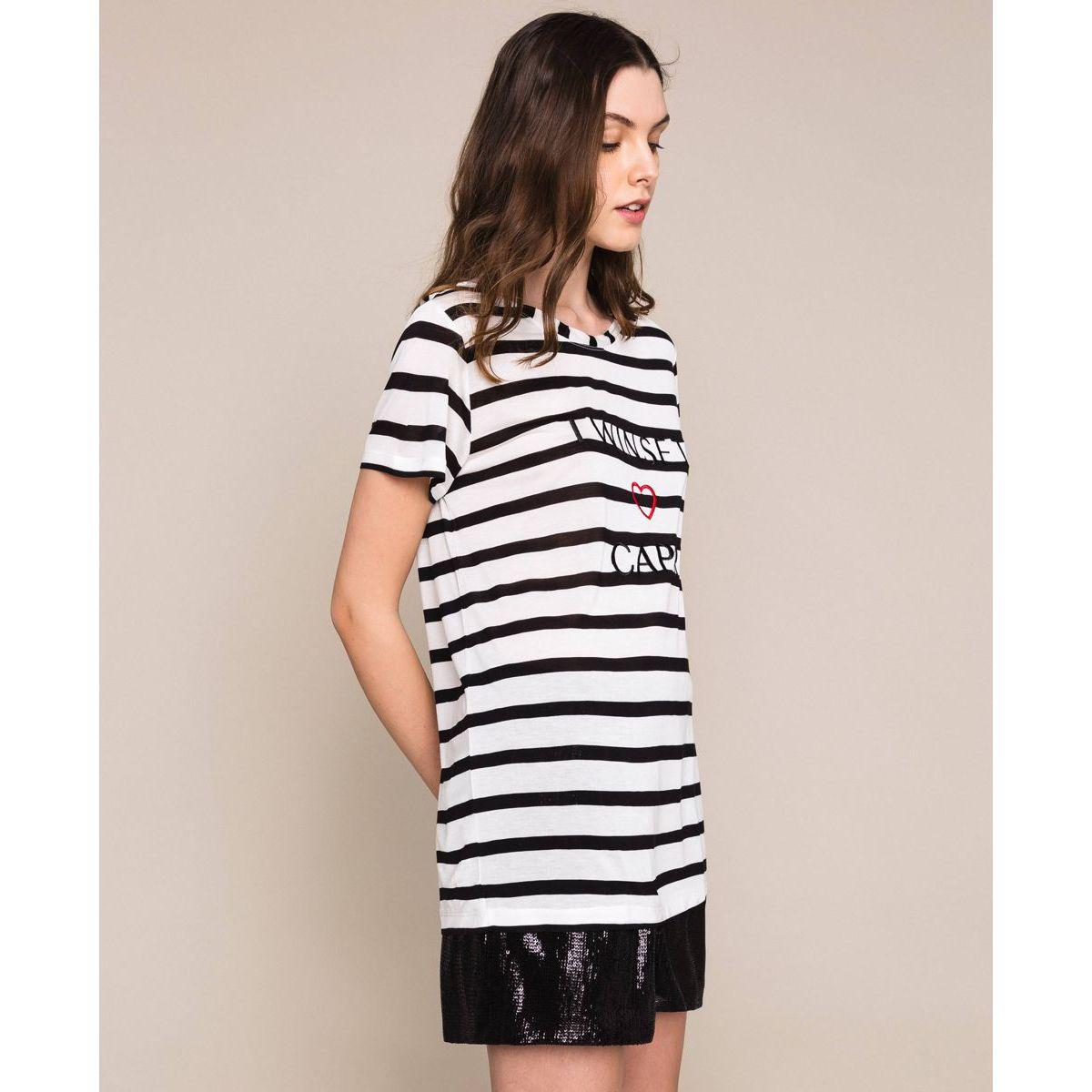 Capri t-shirt Black Twin Set