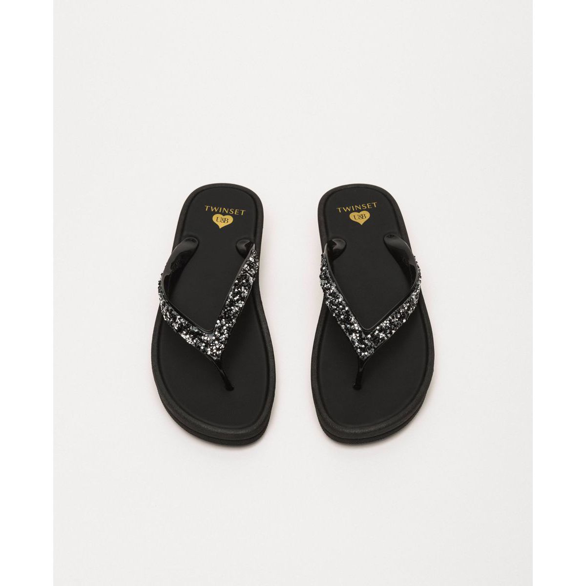 Sequined flip flops Black Twin Set