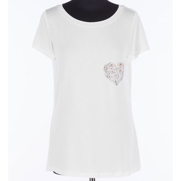 Heart t-shirt Hivory Twin Set