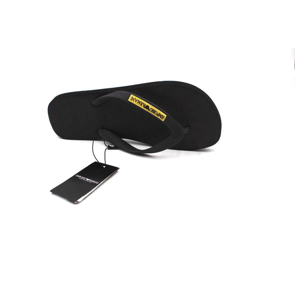 EA flip flop Black Emporio Armani