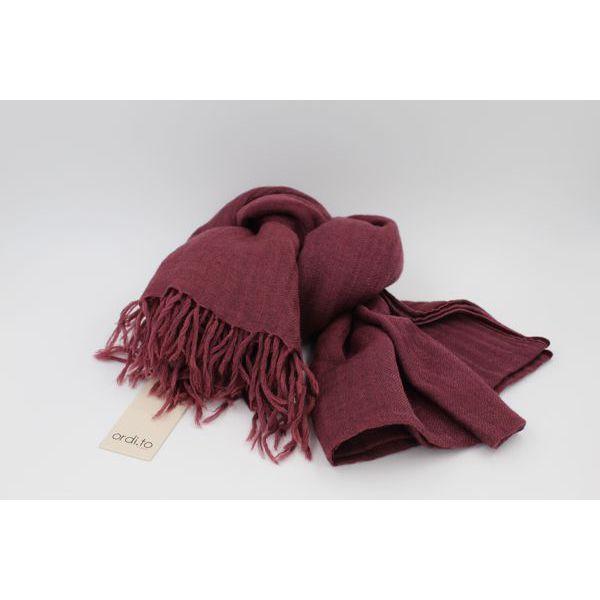 Wool pashmina Aubergine Ordi.to