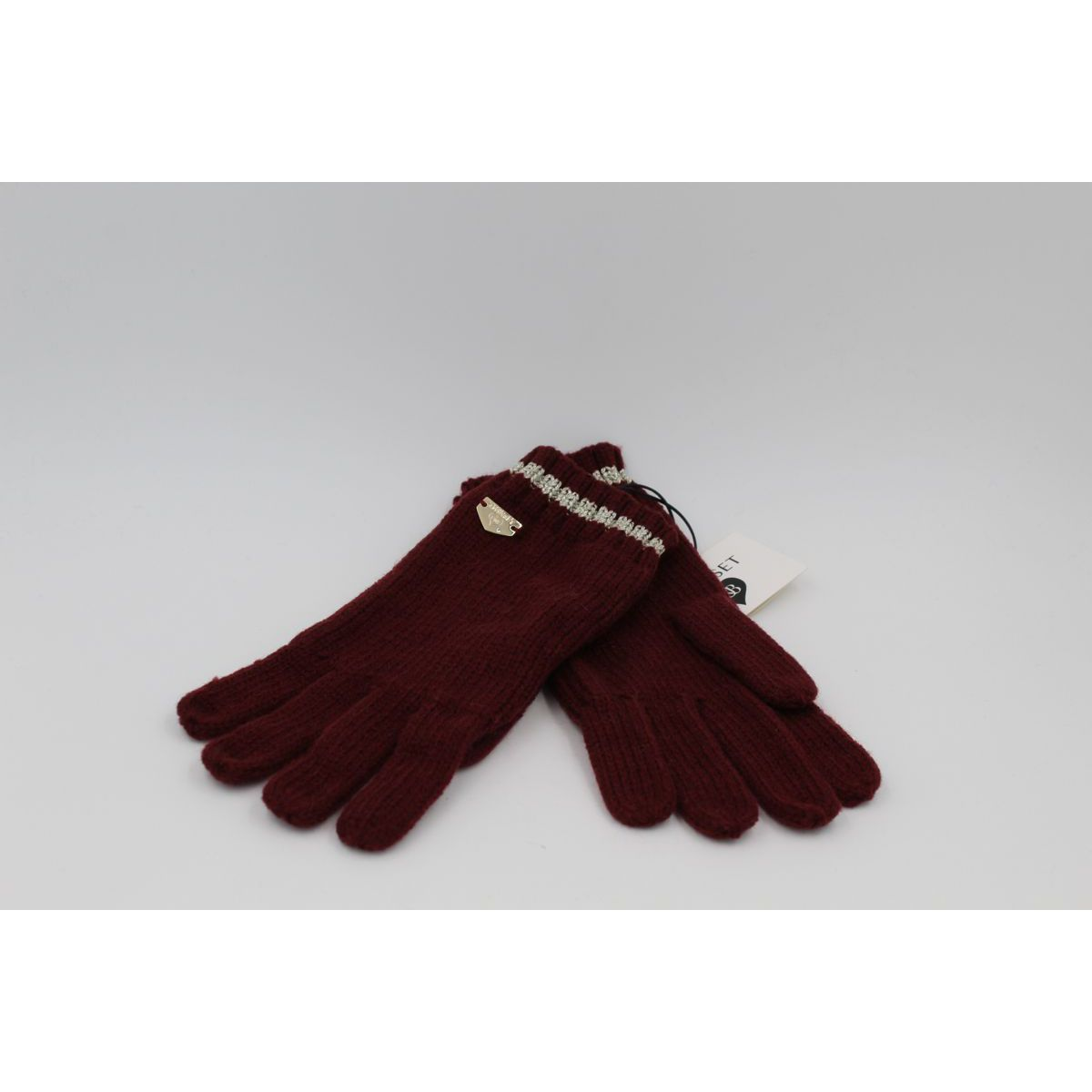 Lurex gloves Bordeaux Twin Set