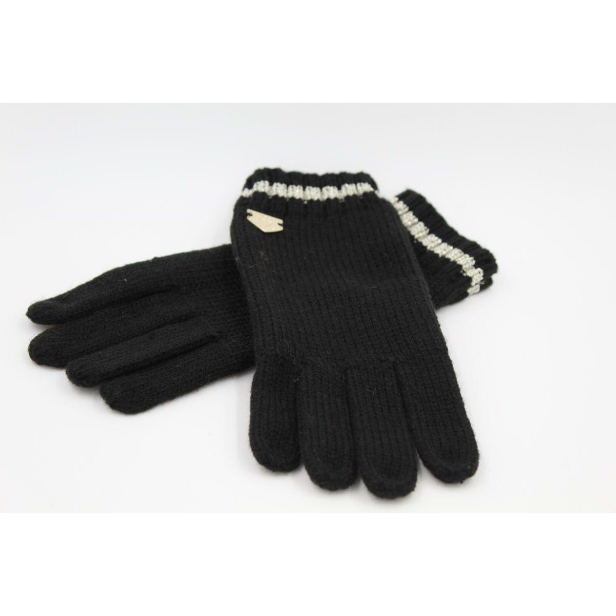 1. Lurex gloves Black Twin Set