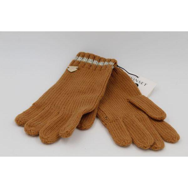 1. Lurex gloves Camel Twin Set