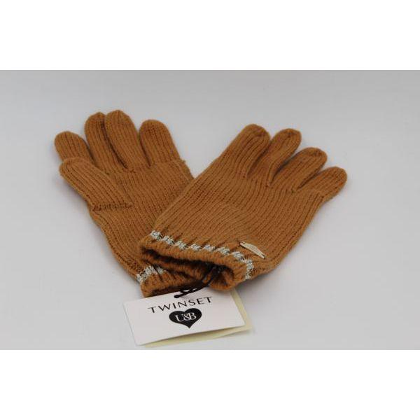 2. Lurex gloves Camel Twin Set