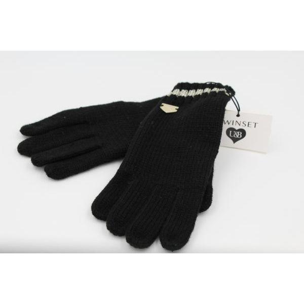 2. Lurex gloves Black Twin Set