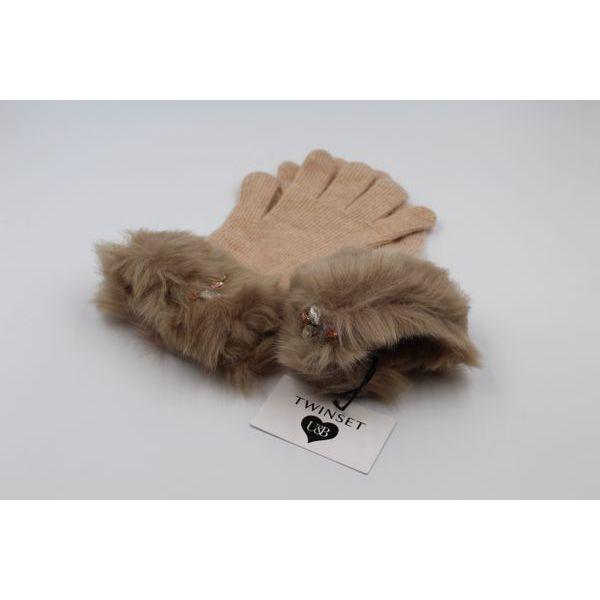 1. Faux fur gloves Camel Twin Set