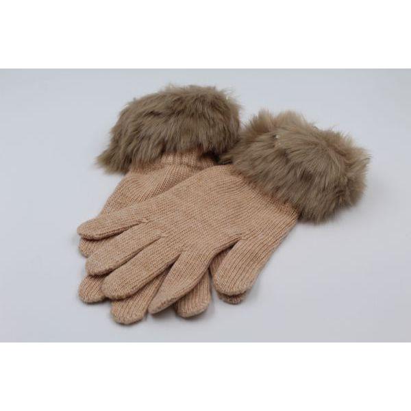 2. Faux fur gloves Camel Twin Set