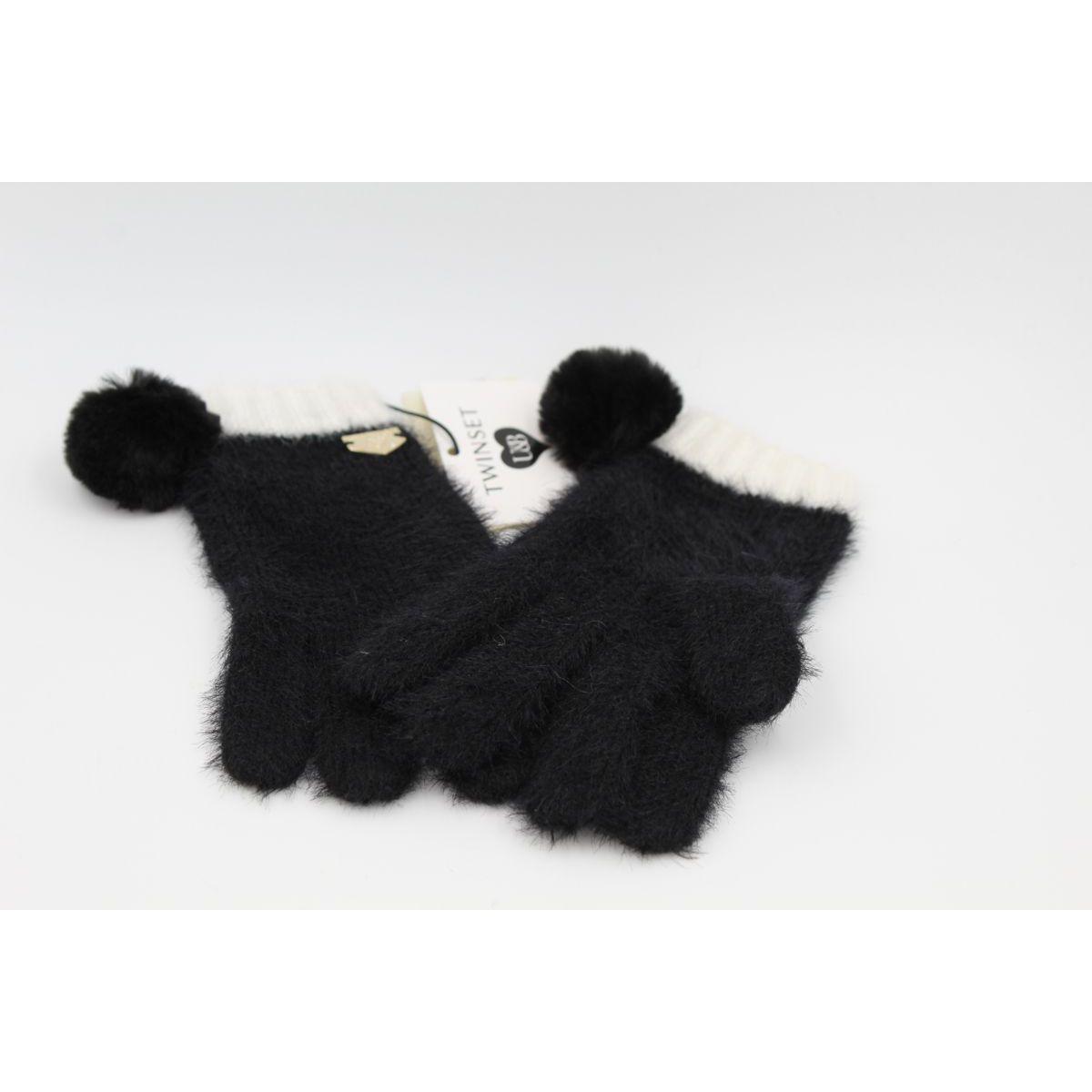 1. Two-tone gloves Black Twin Set