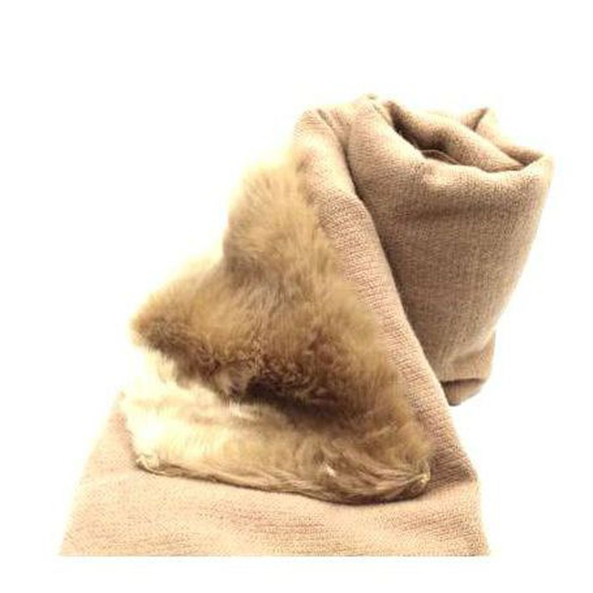 1. Fur scarf Camel Twin Set