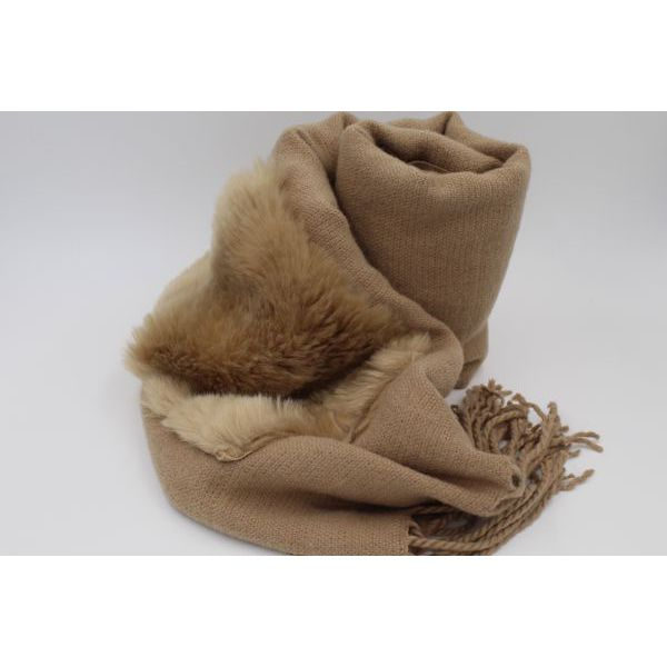 Fur scarf Camel Twin Set