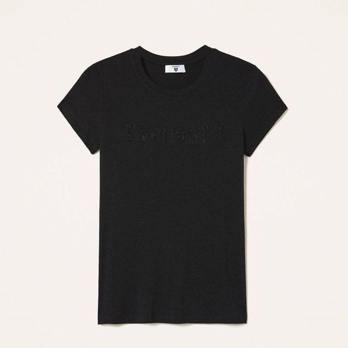 1. Strass t-shirt Black Twin Set