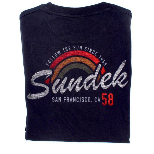 2. San Francisco rainbow t-shirt Navy Sundek