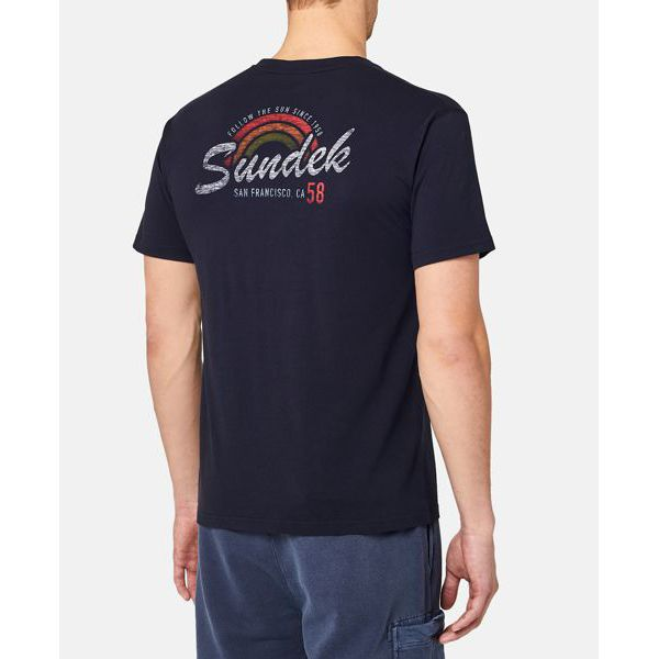 5. San Francisco rainbow t-shirt Navy Sundek
