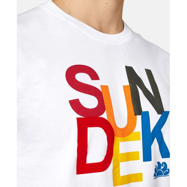 5. Sun colors t-shirt White Sundek