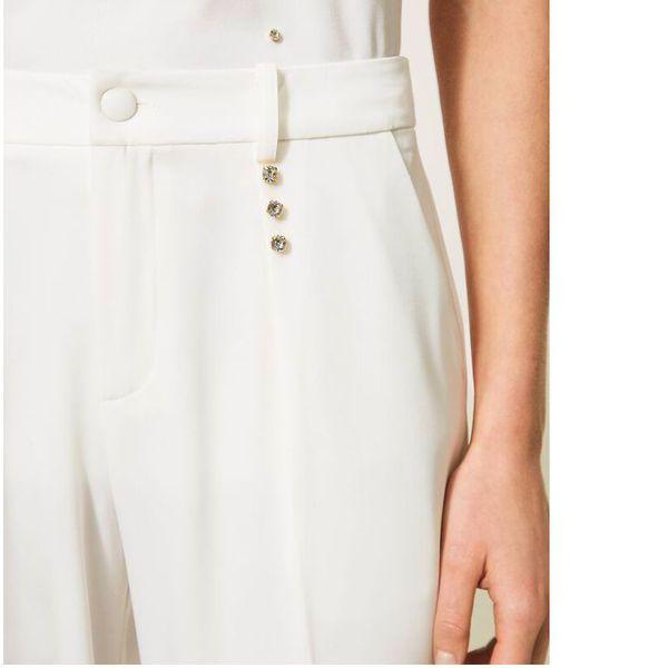 2. Swaroski trousers Ivory Twin Set