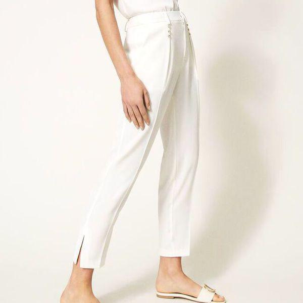 6. Swaroski trousers Ivory Twin Set