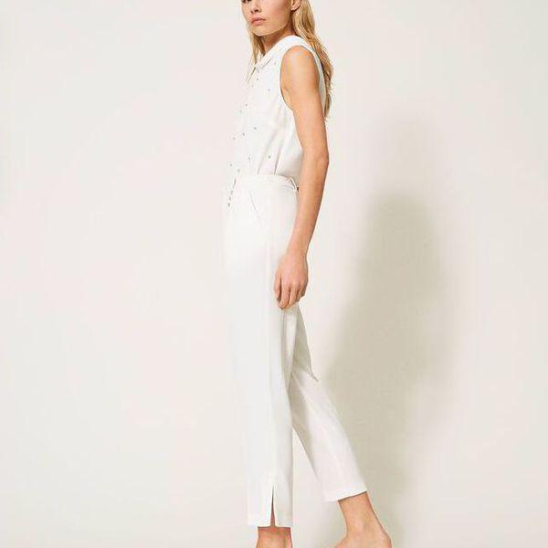 5. Swaroski trousers Ivory Twin Set