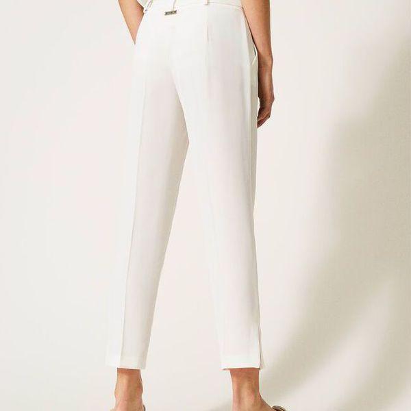 3. Swaroski trousers Ivory Twin Set