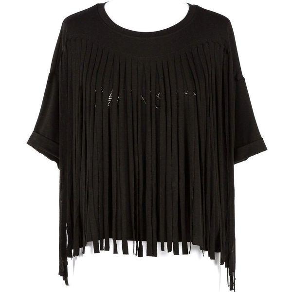 1. Fringed blouse Black Twin Set