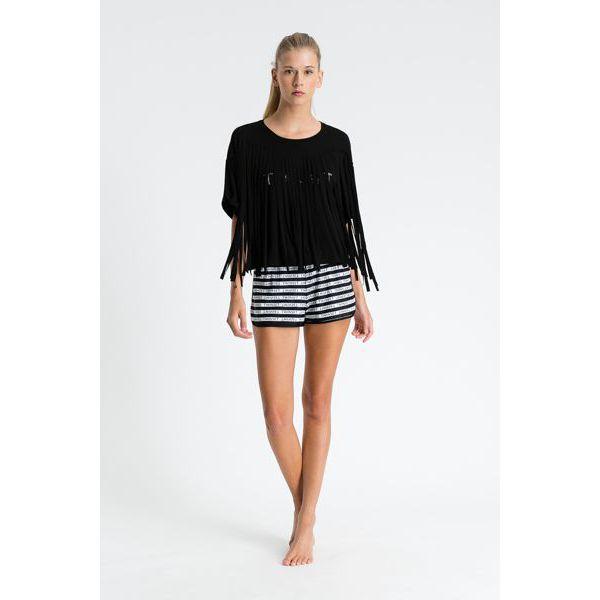 2. Fringed blouse Black Twin Set