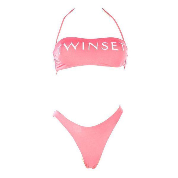 1. Logo band Cherry pink Twin Set