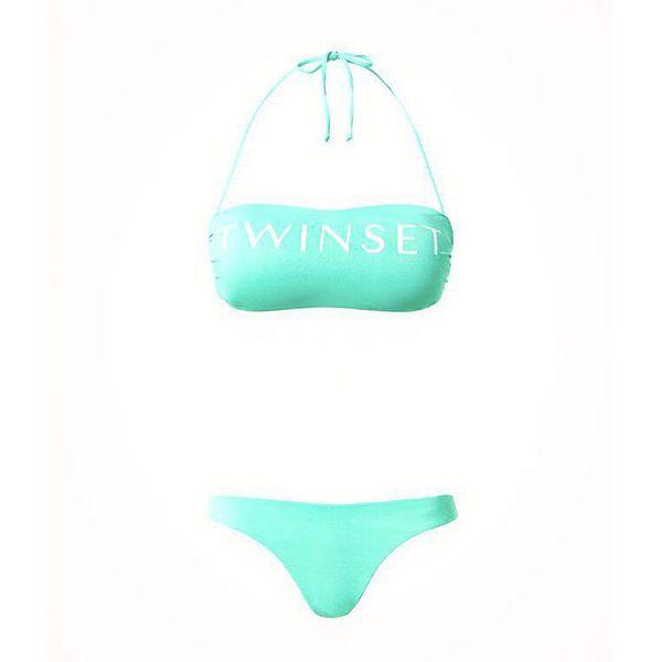 1. Logo band Mint green Twin Set