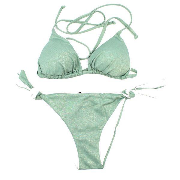 1. Lurex triangle Mint green Twin Set