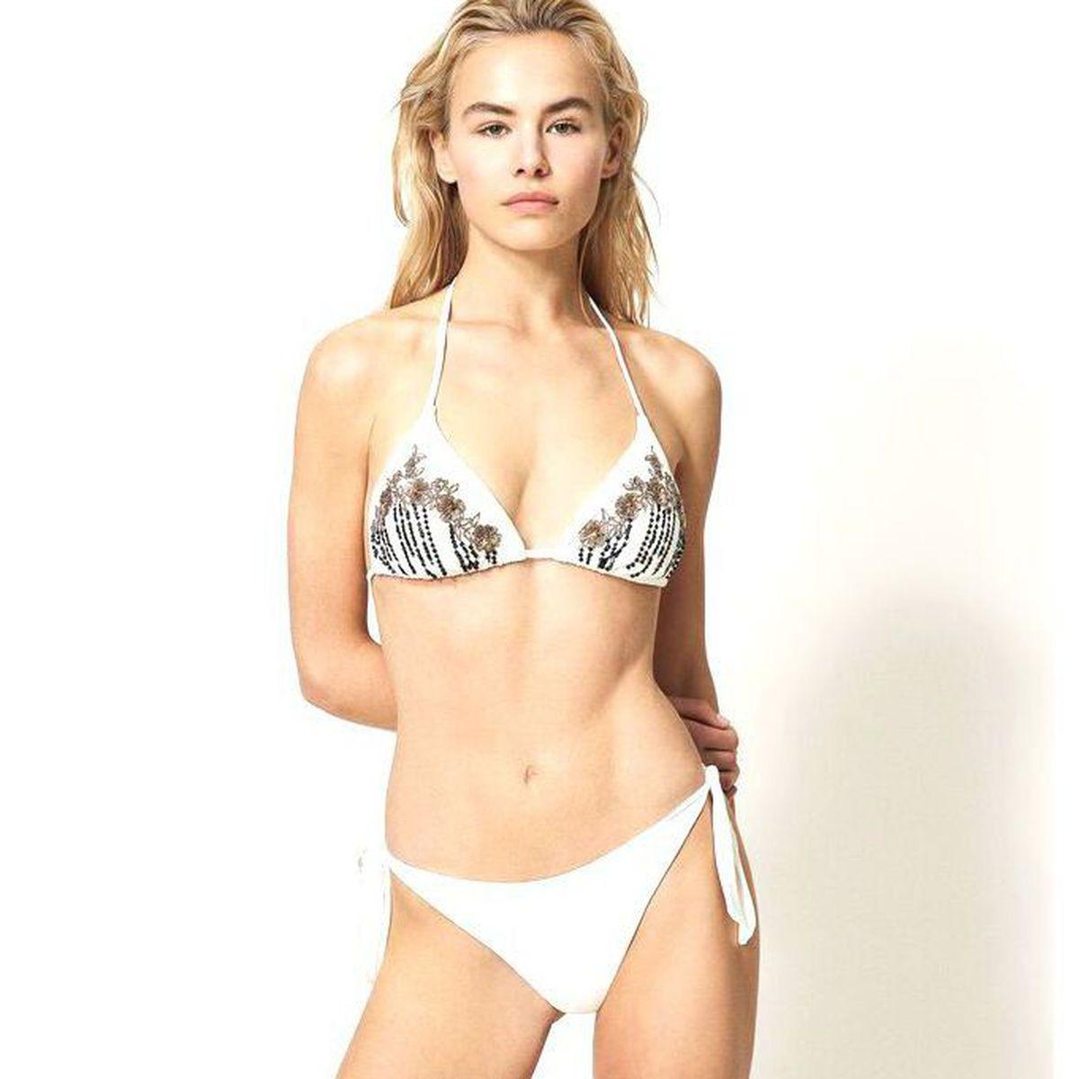 1. Embroidery bikini Ivory Twin Set