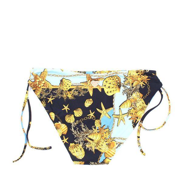 2. Push-up bikini with shells Blue Twin Set