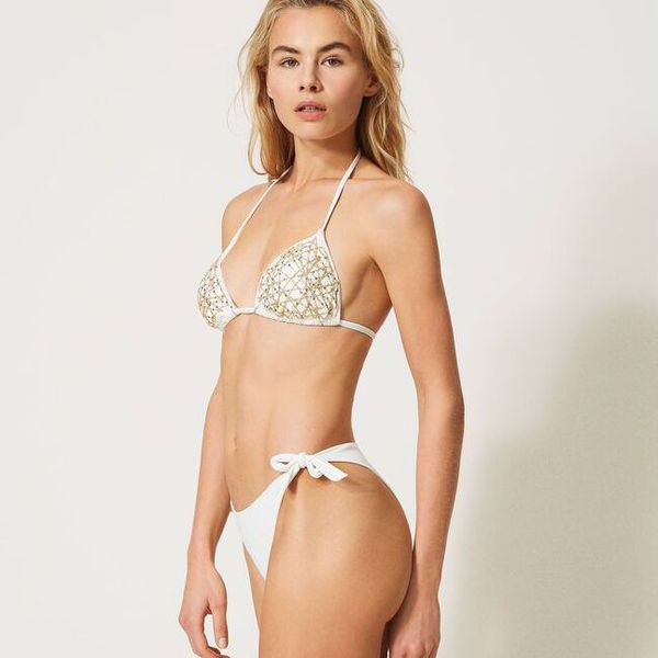 3. Triangle wires Ivory Twin Set