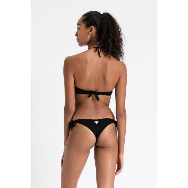 2. Floral bandeau bikini Black Twin Set