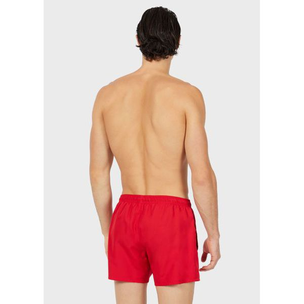 3. Mini logo shorts Red Emporio Armani