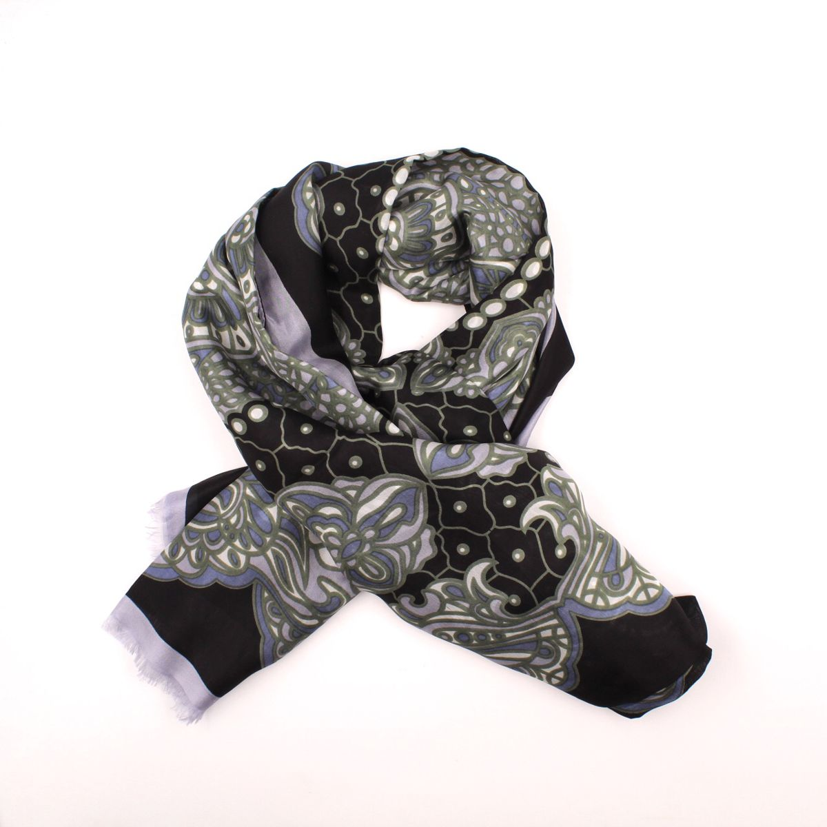 1. Millefeuille Scarf Black Ordi.to