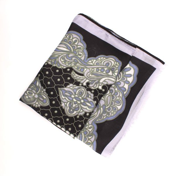 2. Millefeuille Scarf Black Ordi.to