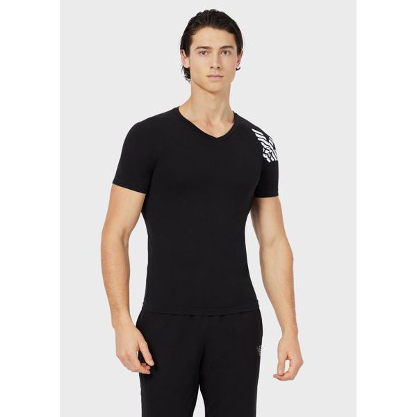 2. T-shirt V Black Emporio Armani