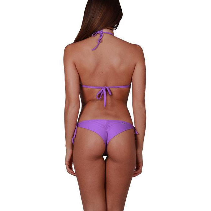 TRIANGLE BIKINI SOLID COLOR HONEYCOMB Violet Pin Up