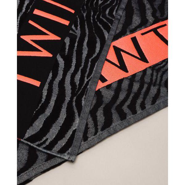 2. Animalier beach towel Black Twin Set